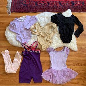 Girls ballet gymnastics bundle sz 6